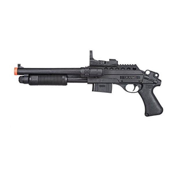UKARMS  2 UKARMS Pump Action Pistol Grip Spring Power Airsoft Shotgun 6mm Gun + Flashlight