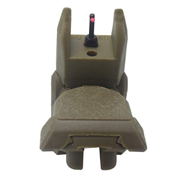 AWOTAC Airsoft Gun Sight 3 AWOTAC Polymer Fiber Optics Iron Sights Flip-up Front and Rear Sights with Red and Green Dots Fit Picatinny Weaver Rails