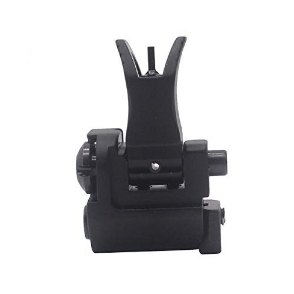 AWOTAC Airsoft Gun Sight 5 AWOTAC Tactical Rapid Transition Front and Rear Flip Up Backup HK Iron Sights Fit Picatinny Weaver Rails