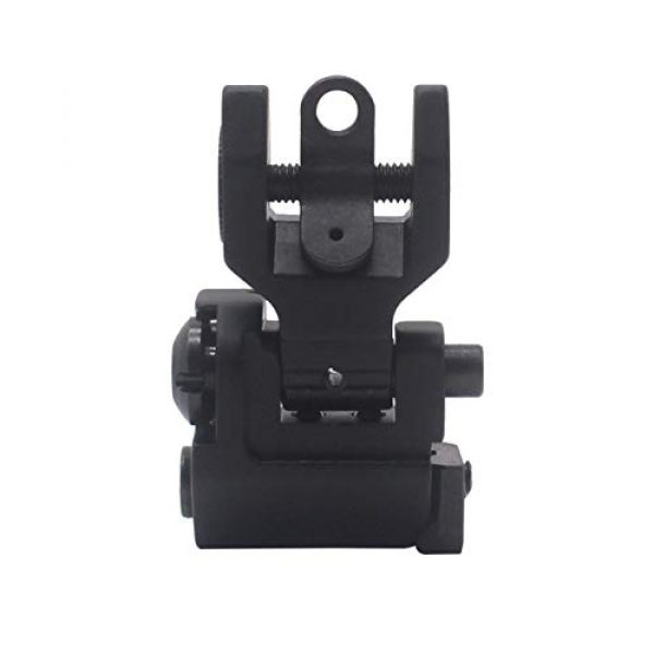 AWOTAC Airsoft Gun Sight 4 AWOTAC Tactical Rapid Transition Front and Rear Flip Up Backup HK Iron Sights Fit Picatinny Weaver Rails