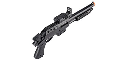 UKARMS  5 UKARMS Pump Action Pistol Grip Spring Power Airsoft Shotgun 6mm Gun + Flashlight