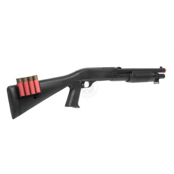 UKARMS  5 400 fps agm airsoft m500 m183a2 tactical shell fed spring airsoft shotgun(Airsoft Gun)