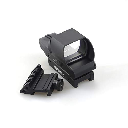Goyea Tactical Airsoft Gun Sight 7 Red Green Holographic Rifle Dot Sight 4 Reticles Tactical Reflex Scope Sight