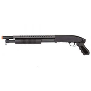 Double Eagle  1 Double Eagle Airsoft Shotgun Metal with Tactical Pistol Grip - Black