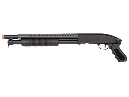 Double Eagle  1 Double Eagle Airsoft Shotgun Metal with Tactical Pistol Grip - Black