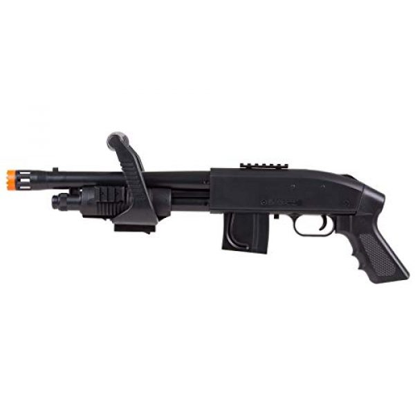 Mossberg  4 Mossberg 590 Airsoft Spring Shotgun Pump-Action Chainsaw with Picatinny Rail for Accessories