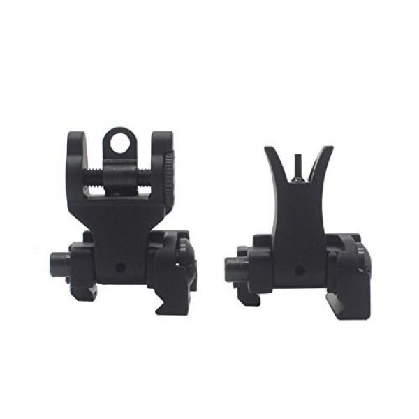 AWOTAC Airsoft Gun Sight 2 AWOTAC Tactical Rapid Transition Front and Rear Flip Up Backup HK Iron Sights Fit Picatinny Weaver Rails