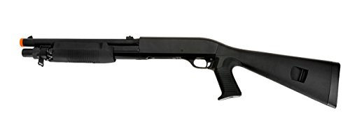 Double Eagle  1 Double Eagle Pump Action Tri-Shot Spring Powered Airsoft Shotgun - High Power 3 Shot Burst