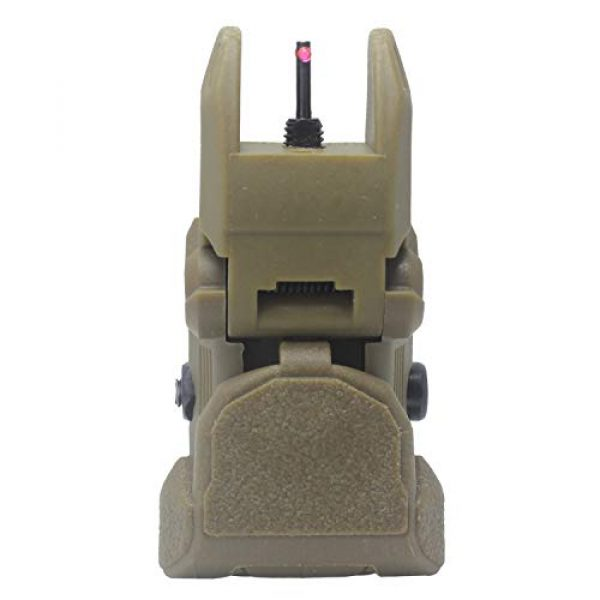 AWOTAC Airsoft Gun Sight 6 AWOTAC Polymer Fiber Optics Iron Sights Flip-up Front and Rear Sights with Red and Green Dots Fit Picatinny Weaver Rails