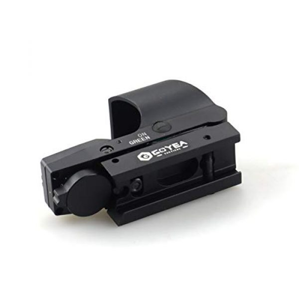 Goyea Tactical Airsoft Gun Sight 5 Red Green Holographic Rifle Dot Sight 4 Reticles Tactical Reflex Scope Sight