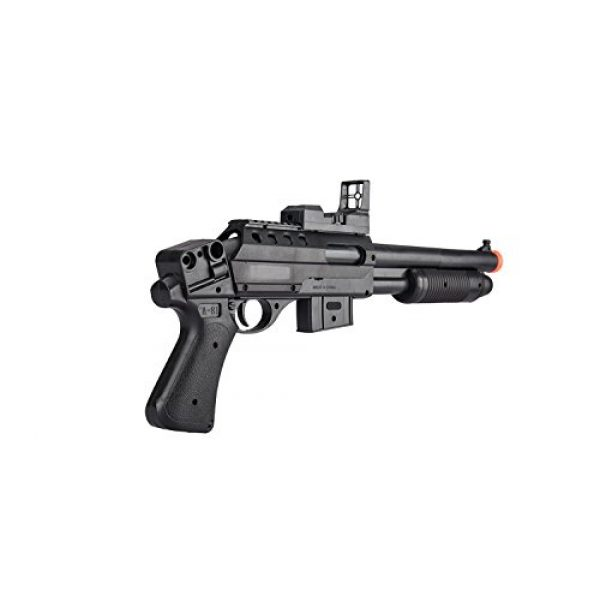 UKARMS  4 UKARMS Pump Action Pistol Grip Spring Power Airsoft Shotgun 6mm Gun + Flashlight