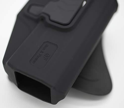 Gun&Flower  6 Gun&Flower OWB Polymer Holster Outside Waistband Concealed Carry Adjustable Ride/Cant/Retention