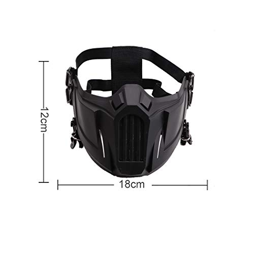 Fansport Airsoft Mask 2 Fansport Airsoft Mask Creative Protective Half Face Mask Outdoor Game Mask Costume Mask Outdoor Sports Masks