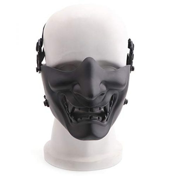 Fansport Airsoft Mask 7 Fansport Airsoft Mask Protective Fashion Half Face Mask Outdoor Game Mask Tactical Prajna Half Face Hannya Oni Motorcycle Evil Demon Knight for Halloween Cosplay