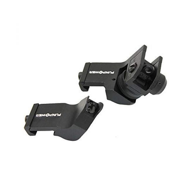 Funpower Airsoft Gun Sight 3 Funpower 45 Degree Offset Front and Rear Backup Iron Picatinny Sight Set