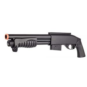 Double Eagle  1 Double Eagle M401 BREACHER Pump Action Spring Powered Airsoft Shotgun Air Soft 6mm BBS 350 FPS