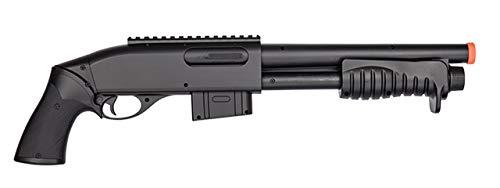 Double Eagle  3 Double Eagle M401 BREACHER Pump Action Spring Powered Airsoft Shotgun Air Soft 6mm BBS 350 FPS