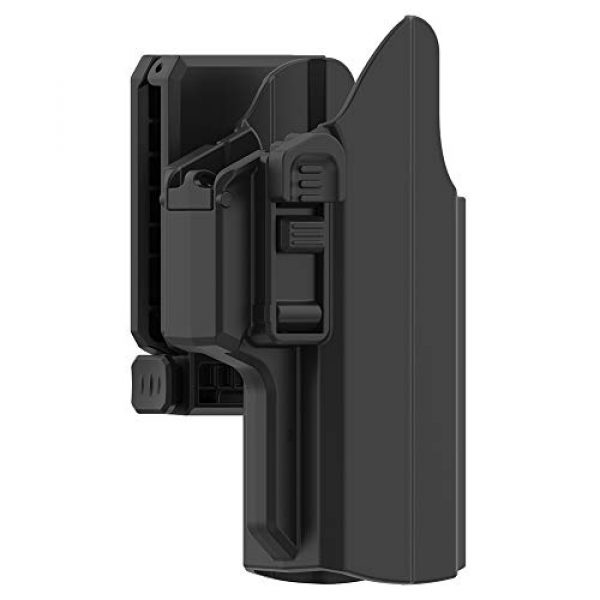 PISOLHO  4 PISOLHO Universal OWB Holster Glock 17 19 19X 45 Outside Waistband Belt Holster Fits S&W M&P 9MM Springfield XD Beretta 92fs Full Size Pistols 360° Adjustable Draw Angle Tactical Holster