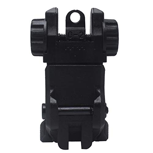 AWOTAC Airsoft Gun Sight 5 AWOTAC Polymer Black Flip-up Front and Rear Sight Fit Picatinny Weaver Rails