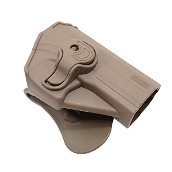 Amomax  1 Amomax Level II Tactical Holster - FDE Color | Fits Airsoft KWA/Umarex USP Full Size/Compact | G