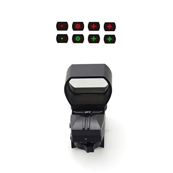 Goyea Tactical Airsoft Gun Sight 4 Red Green Holographic Rifle Dot Sight 4 Reticles Tactical Reflex Scope Sight