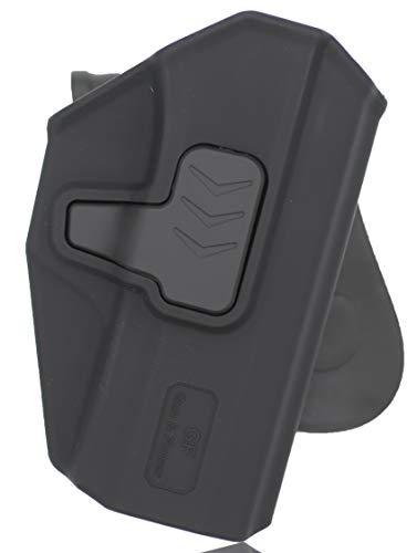 Gun&Flower  1 Gun&Flower OWB Polymer Holster Outside Waistband Concealed Carry Adjustable Ride/Cant/Retention