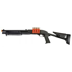 Double Eagle  1 Double Eagle VA183A3 Airsoft Spring Action Pump Shotgun with Adjustable Stock Airsoft Gun