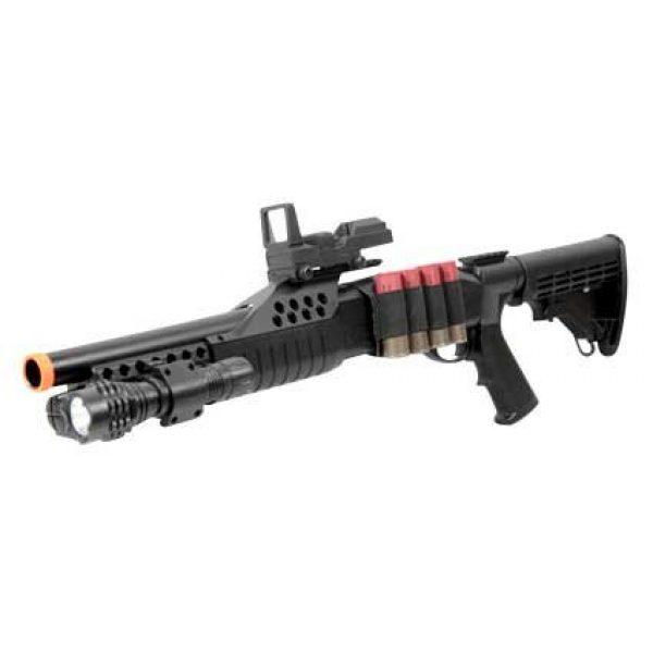 BBTac  1 BBTac Airsoft Shotgun Pump w/ Shells - Flashlight - Red Dot