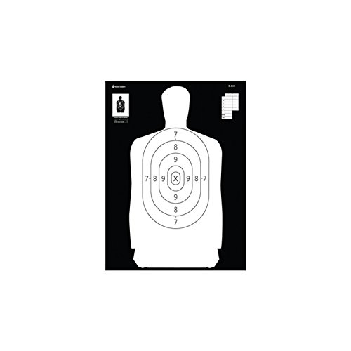 Action Targets Airsoft Target 1 Law Enforcement Targets B-34R Reverse Of B-34 25 Yard Reduction Of B-27 Police Silhouette 17.5x23