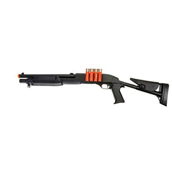 UKARMS  1 UK ARMS 1:1 Pump Action Spring Powered Airsoft Shotgun - 430 FPS