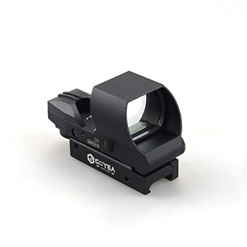 Goyea Tactical Airsoft Gun Sight 3 Red Green Holographic Rifle Dot Sight 4 Reticles Tactical Reflex Scope Sight