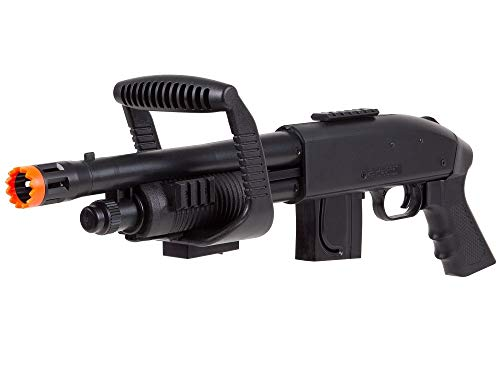 Mossberg  2 Mossberg 590 Airsoft Spring Shotgun Pump-Action Chainsaw with Picatinny Rail