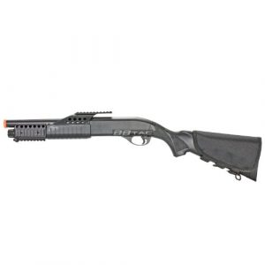 BBTac  1 BBTac BT-BT180D1 Pump Action RIS Airsoft Shotgun with 4 Bullet Shells and Stock Shell Holder