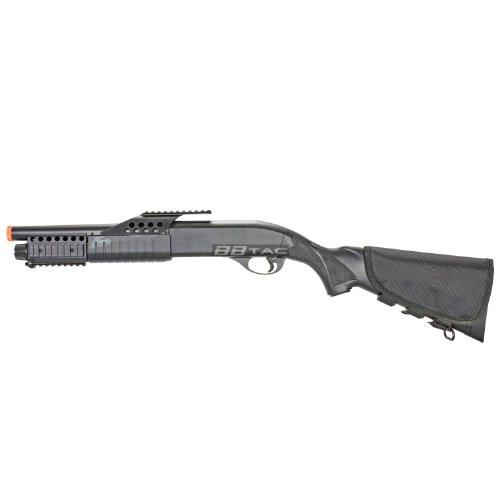 BBTac  1 BBTac BT-BT180D1 Pump Action RIS Airsoft Shotgun with 4 Bullet Shells and Stock Shell Holder