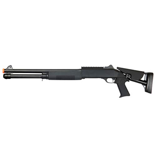 BBTac  3 BBTac Airsoft Shotgun BT-M56C Tri-Barrel Triple Shot Spring Loaded Pump Action
