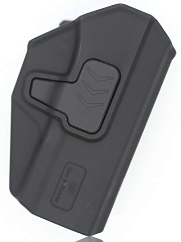 Gun&Flower  5 Gun&Flower OWB Polymer Holster Outside Waistband Concealed Carry Adjustable Ride/Cant/Retention