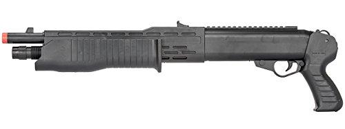 BBTac  3 BBTac Airsoft Shotgun BT12 Pump Action Spas - Tactical Weaver Top Rail