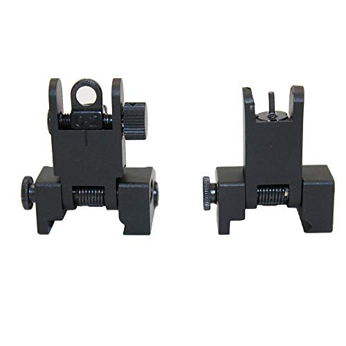 Funpower Airsoft Gun Sight 2 Funpower Tactical Front and Rear Flip Up Iron Sight for Rifle
