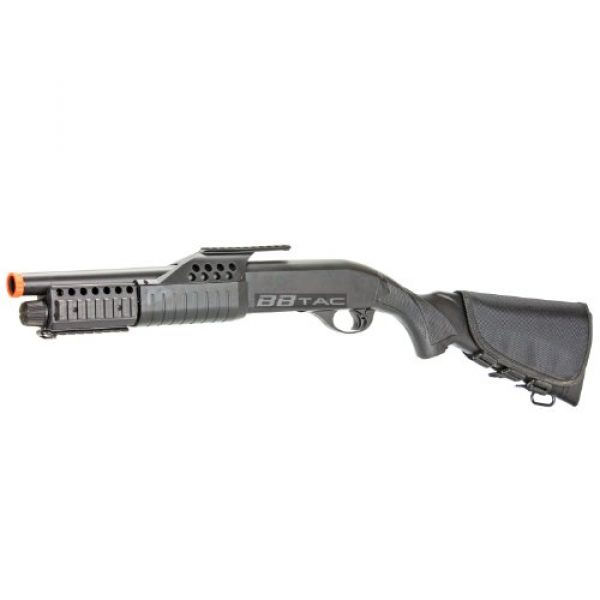 BBTac  4 BBTac BT-BT180D1 Pump Action RIS Airsoft Shotgun with 4 Bullet Shells and Stock Shell Holder
