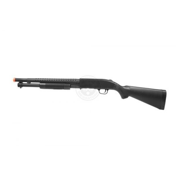AGM  3 Airsoft M500 Tactical Full Stock Pump Action Spring Shotgun