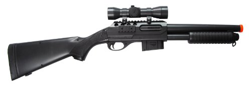 Double Eagle  1 Double Eagle Single Shot Pump Action Spring Powered Airsoft Shotgun (Fixed Stock)