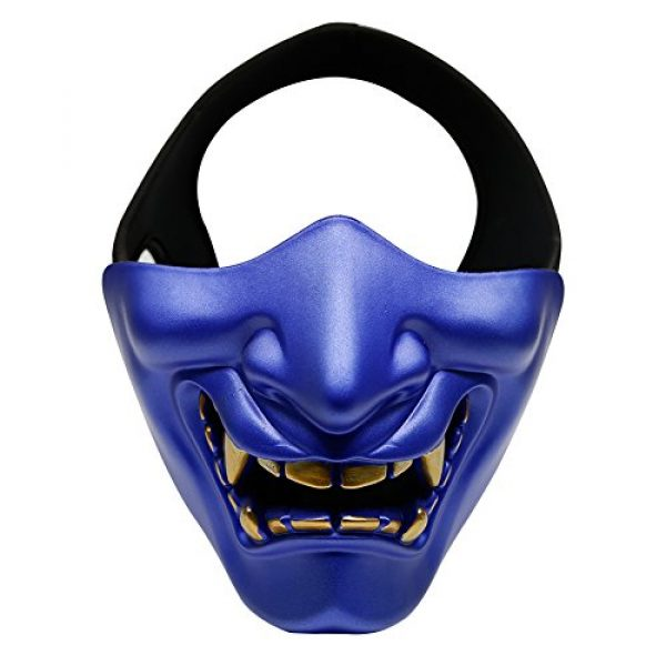 Unknown Airsoft Mask 1 Halloween Costume Cosplay BB Gun Demon Half Face Protective Mask Masquerade