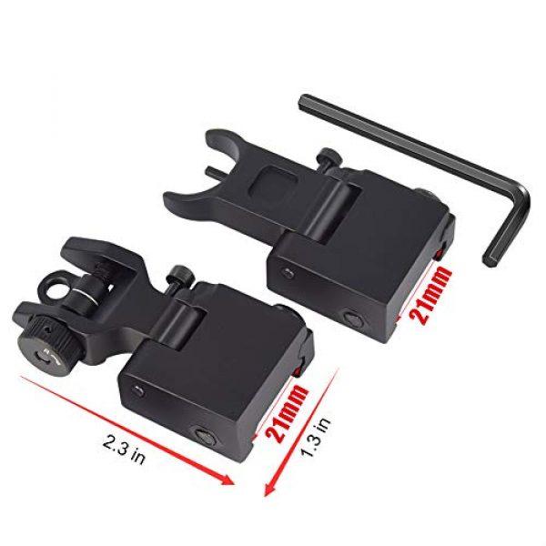 Feyachi Airsoft Gun Sight 6 Feyachi Flip Up Rear Front and Iron Sights Best Backup fits Picatinny & Weaver Rails Black