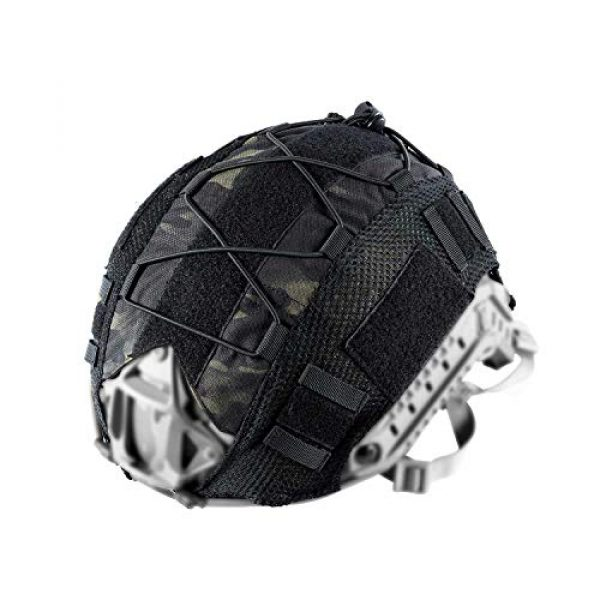 OneTigris Airsoft Helmet 3 OneTigris Multicam Helmet Cover - No Helmet (ZKB06 for Ballistic Fast Helmet in Size L & Fast PJ Helmet in Size L/XL - Multicam Black)
