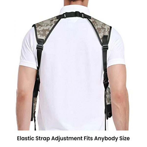 Feyachi  5 Feyachi Universal Shoulder Holster with Dual Mag Pouch Camo Ambidextrous Gun Shoulder Fits Most Pistols & Revolvers for Men and Women