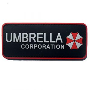 Morton Home Airsoft Patch 1 Morton Home Biohazard Resident Evil Umbrella Corporation Logo 3D PVC Patch (Umbrella Corp I)