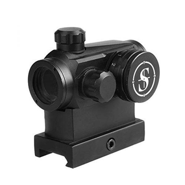 Sniper Airsoft Gun Sight 4 Sniper RD20H Reflex Red Dot Sight Scope 3 MOA with High Profile Rail Mount Fit Picatinny Rail
