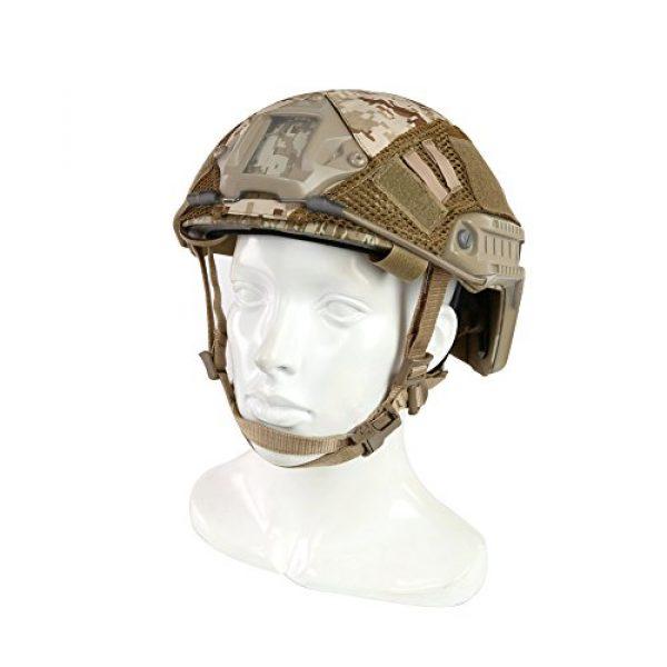 ATAIRSOFT Airsoft Helmet 2 ATAIRSOFT Airsoft Tactical Military Combat Helmet Cover for PJ/BJ/MH Type Fast Helmet Back Pouch (DD)