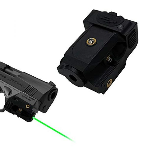 Pistol Laser Sight Green Dot Tactical Sight Adjustable Low Profile Picatinny Rail Laser Pointer with Rechargeable Battery for Pistols & Handguns