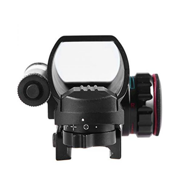 Sniper Airsoft Gun Sight 6 Sniper RD22LR Holographic Reflex Sight with 4 Reticles Red and Green Dot with Red Laser